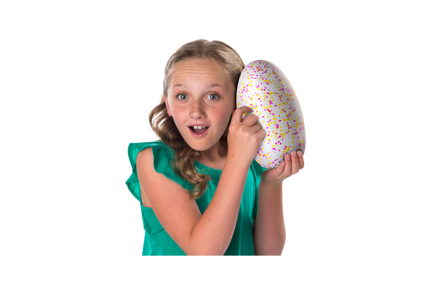Girl holding Hatchimals egg