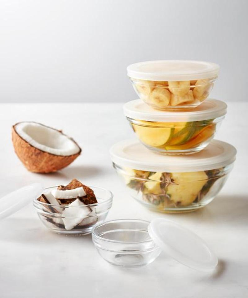 Glass Kitchen Storage Bowls