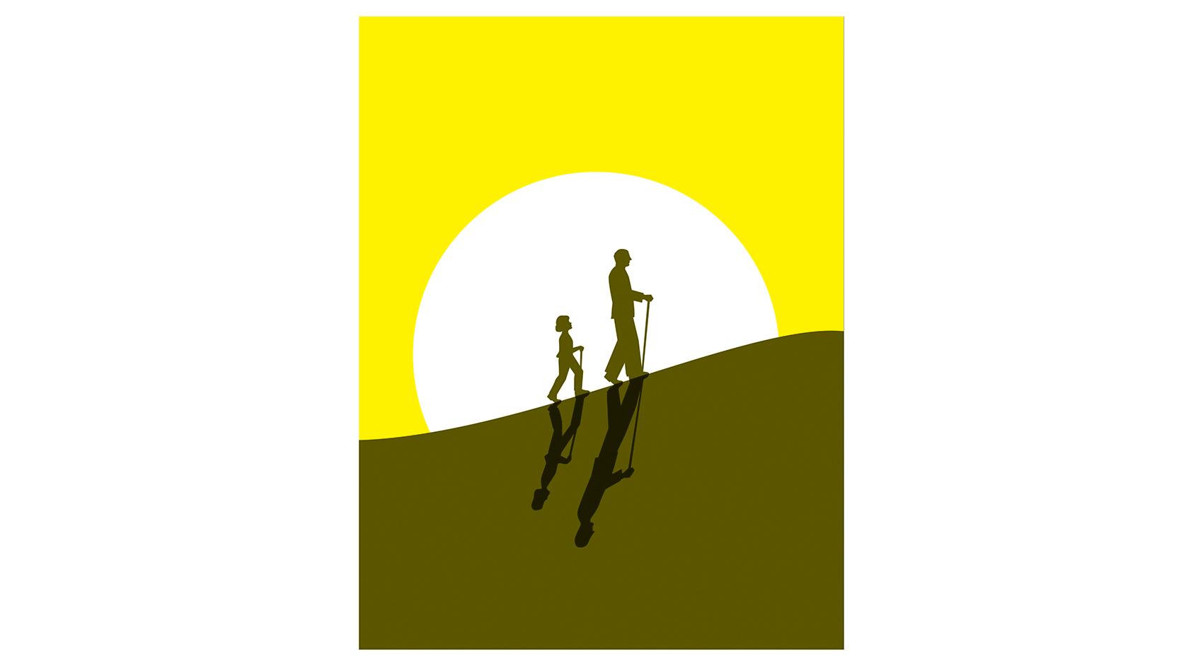 Illustration: child walking with grandfather
