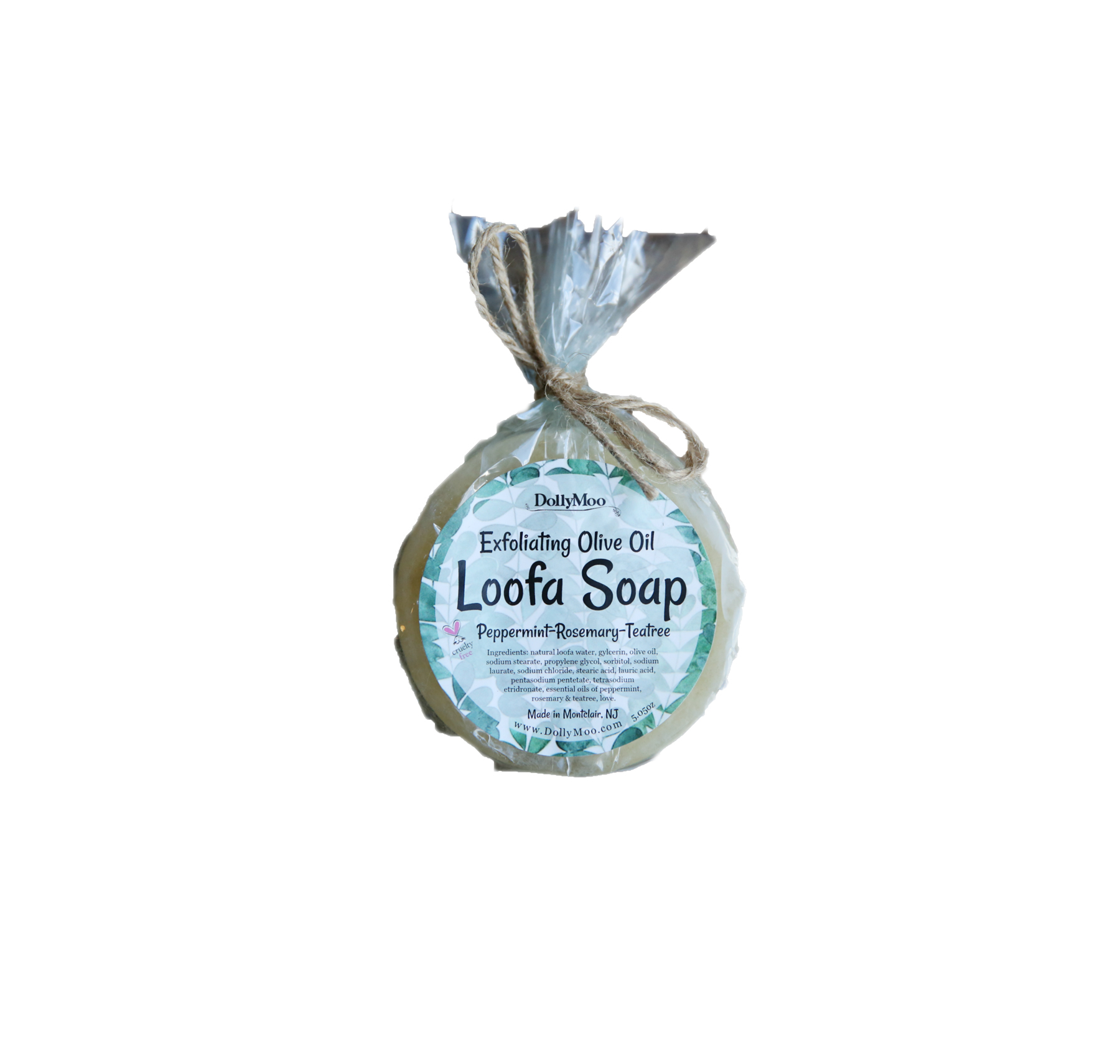 Gym bag essentials and luxuries - DollyMoo Peppermint, Rosemary, Teatree Loofa Soap