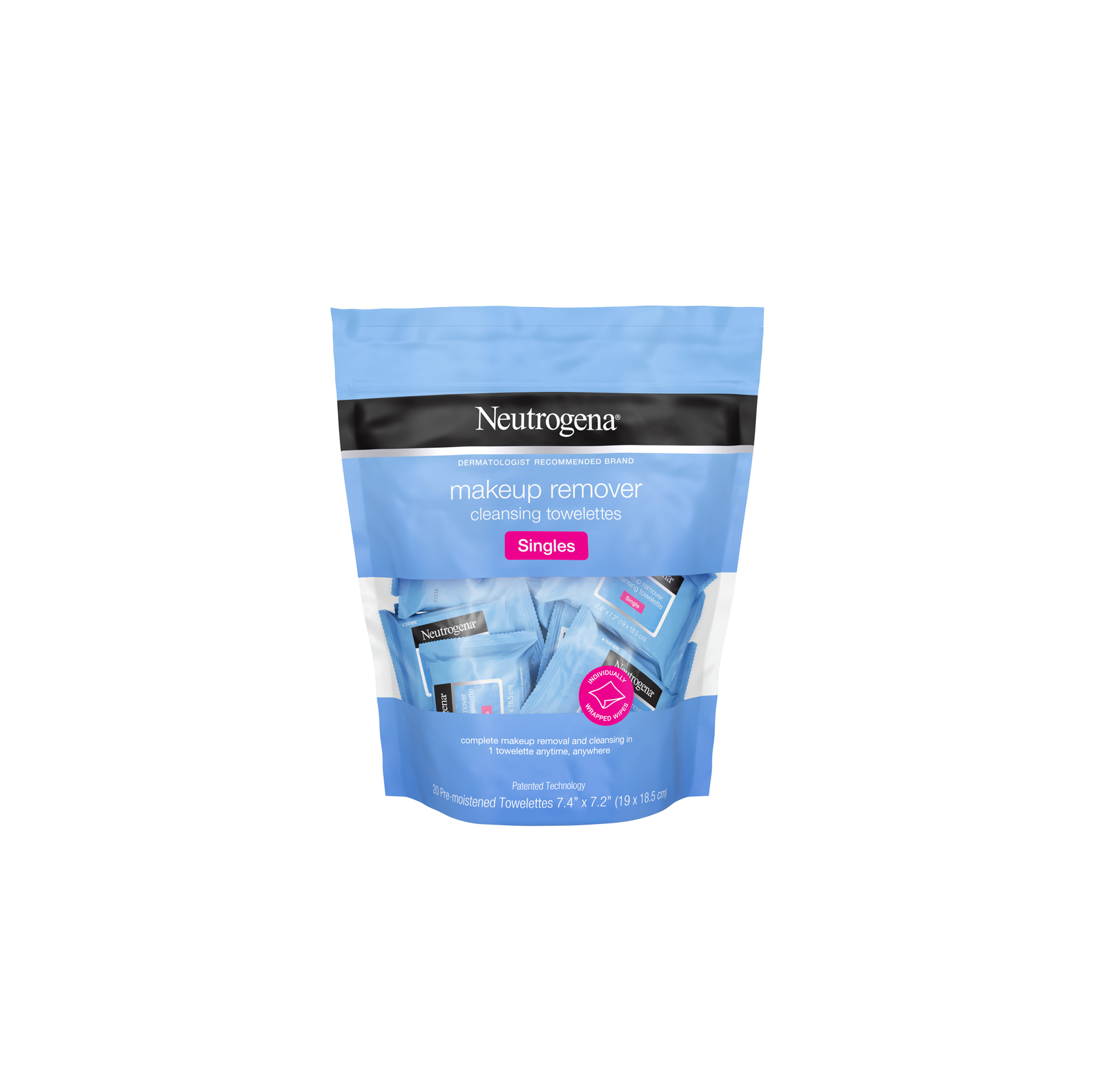 Gym bag essentials and luxuries - Neutrogena Makeup Remover Facial Cleansing Towelettes Singles