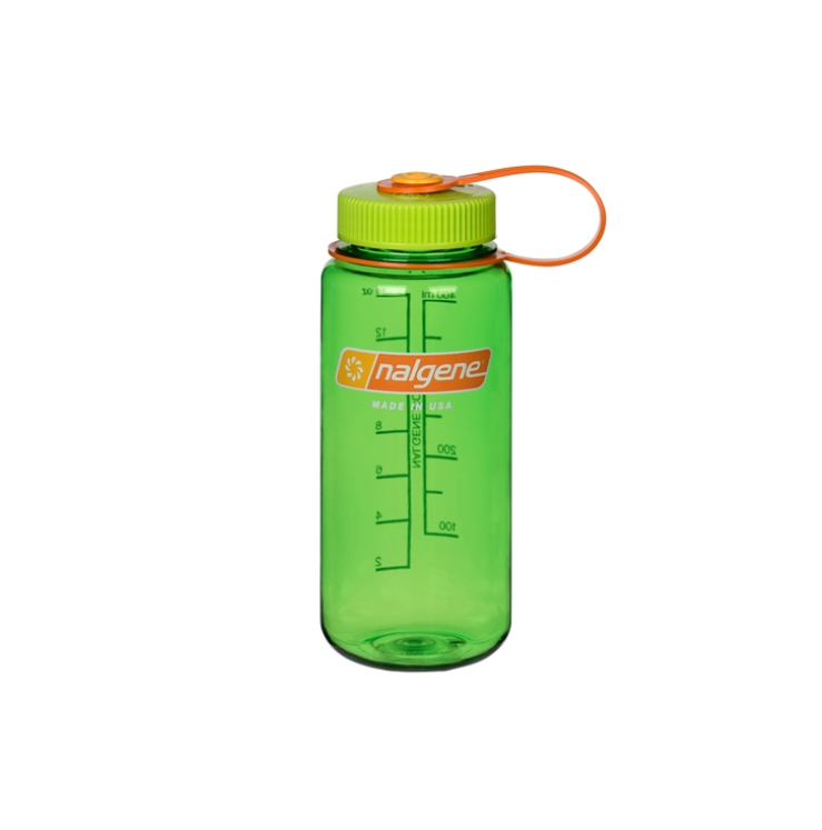 Gym bag essentials and luxuries - Nalgene 16 oz Wide Mouth in Melon Ball