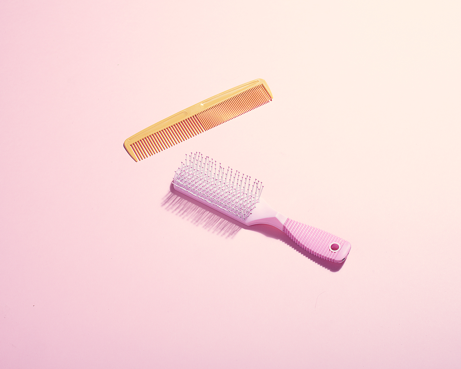 Hairbrush With Pink Background