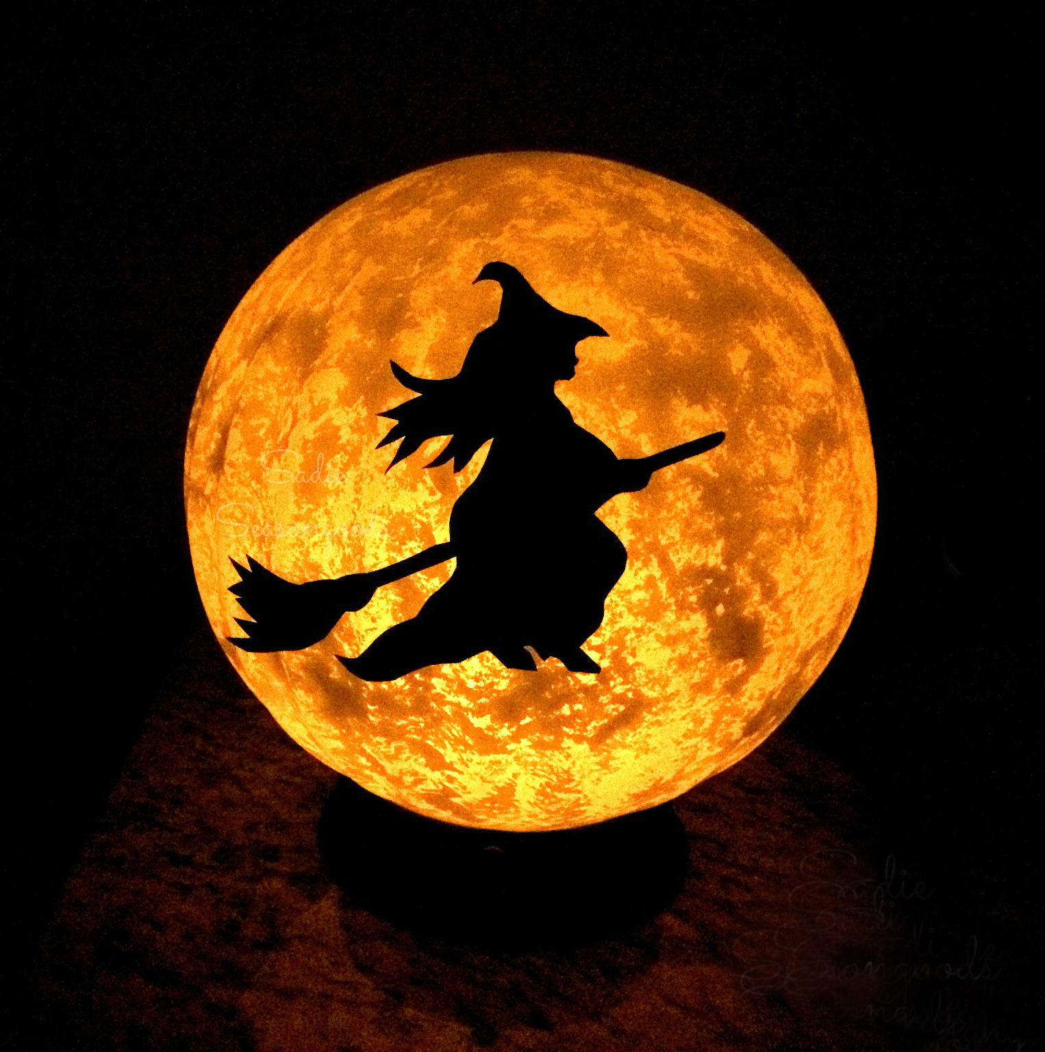 Light Fixture Halloween Moon