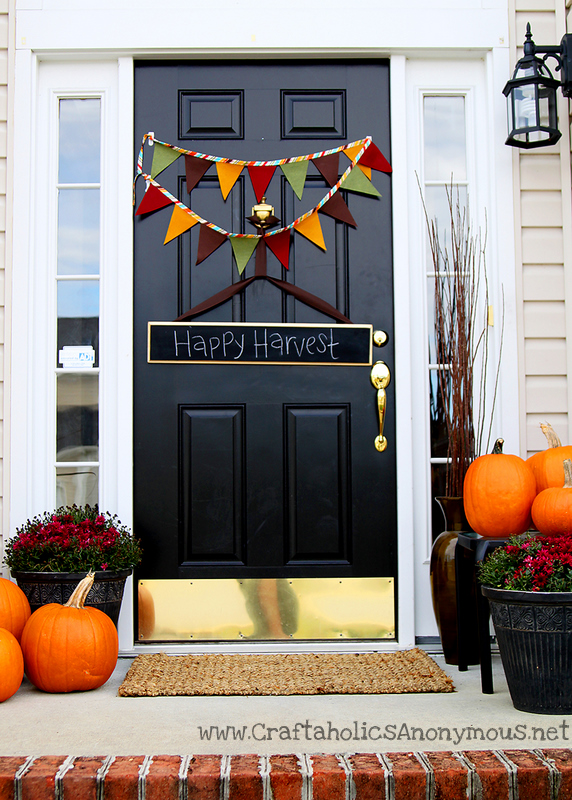 No Sew Banner & 6 Thanksgiving Door Decorations to Amp Up Your Curb Appeal   Real Simple