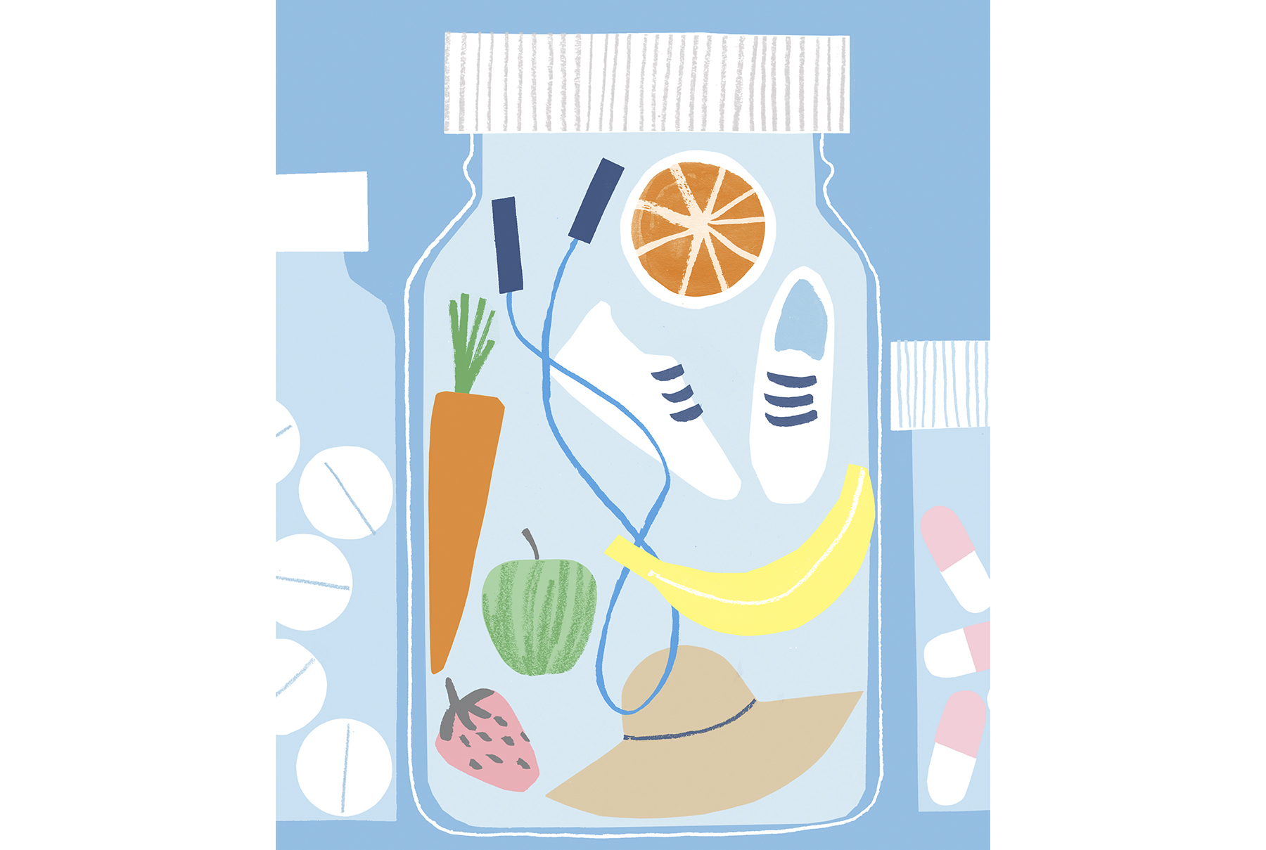 Illustration: Jar of healthy things