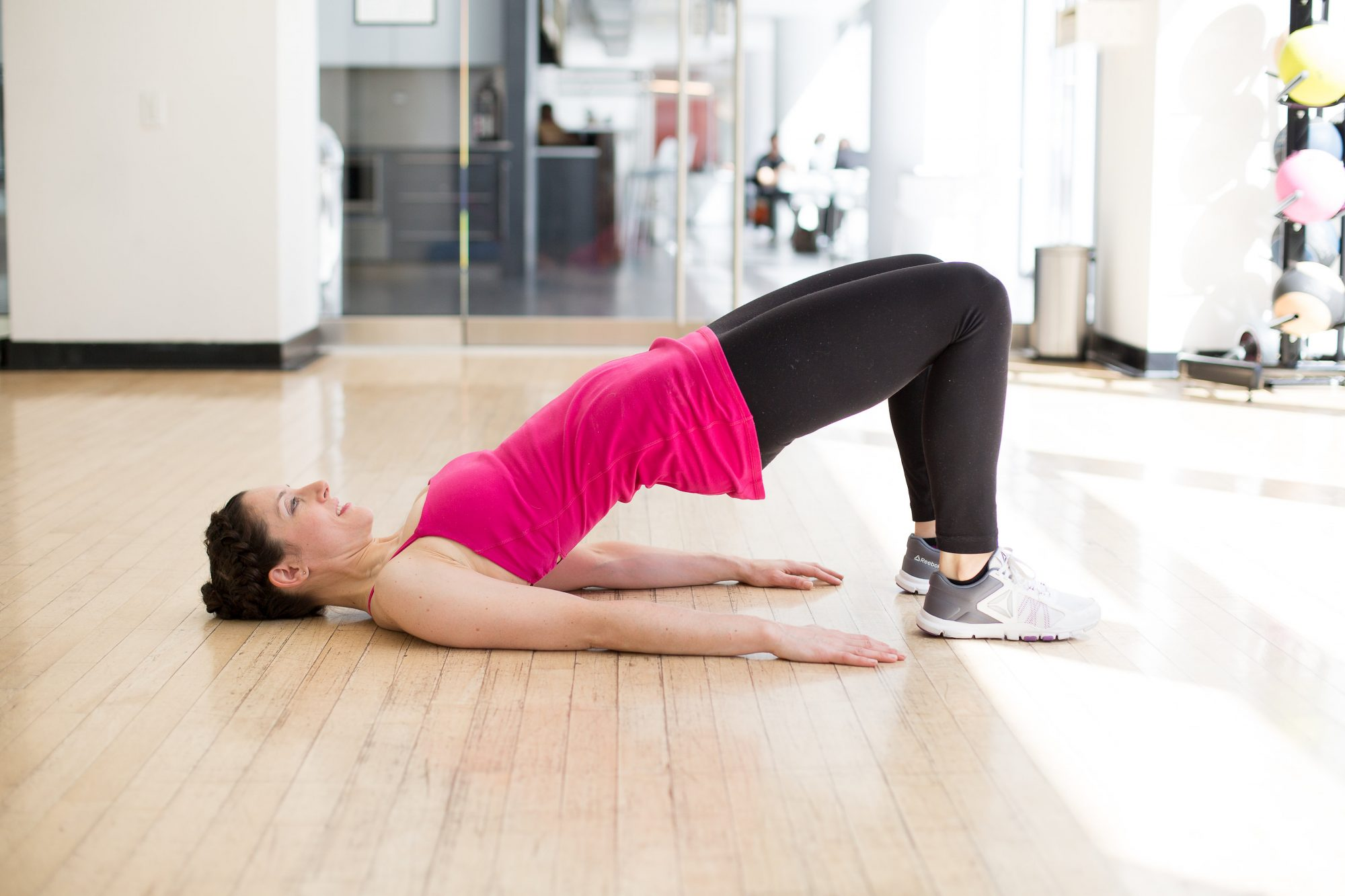 Woman Doing a Hip Bridge