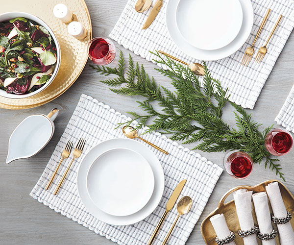 White Holiday Table