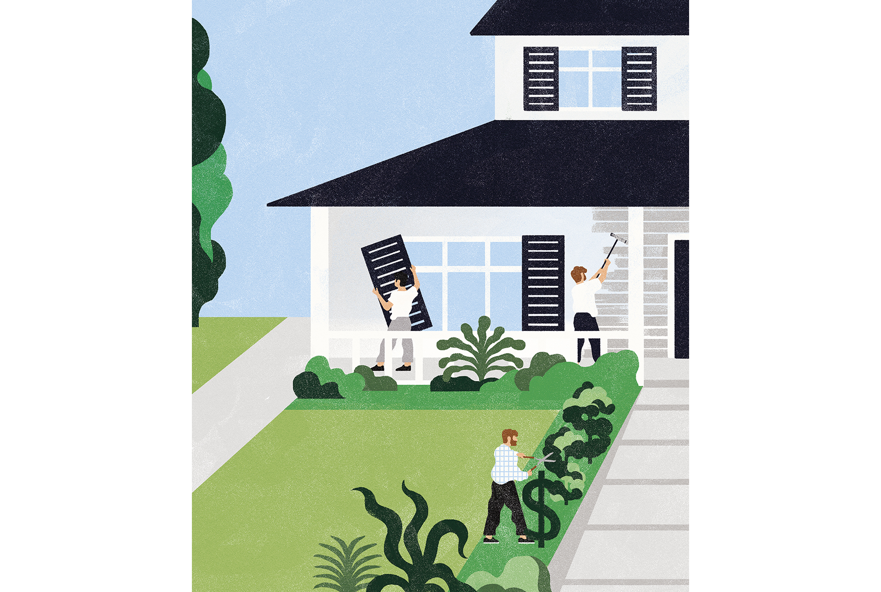 Illustration: exterior home upgrades
