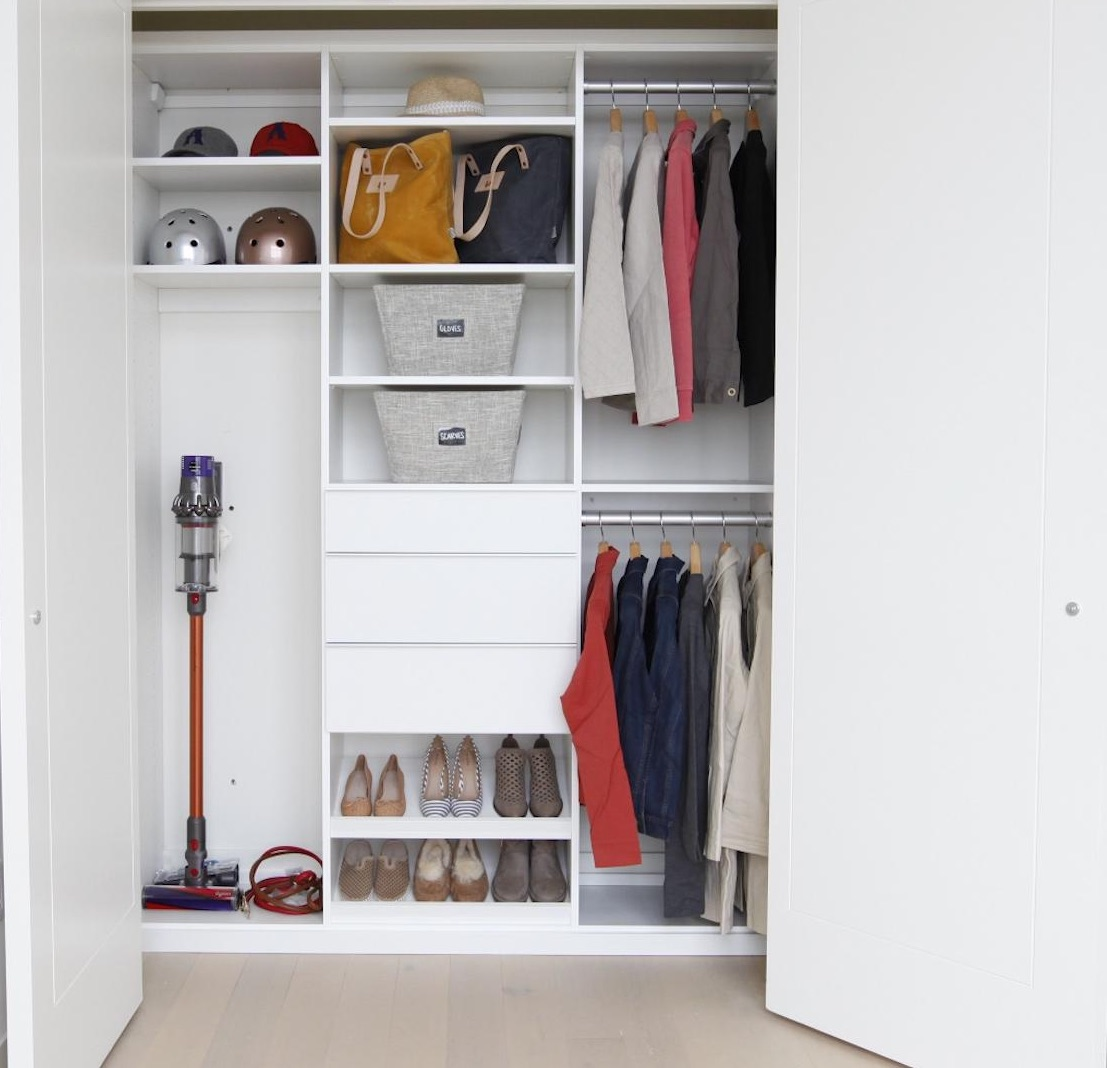 Organized Entryway Closet In The Real Simple Home