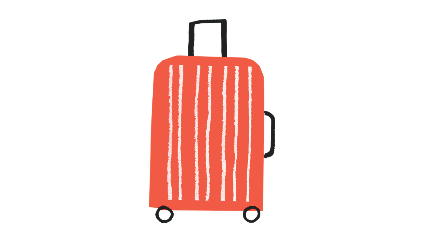 Illo: Red wheelie bag (0618SIM)