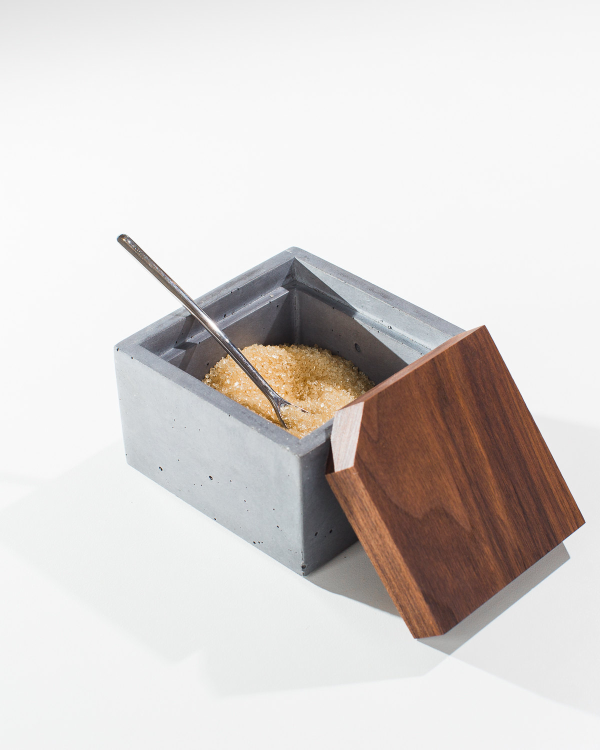 Gray Concrete Sugar Box