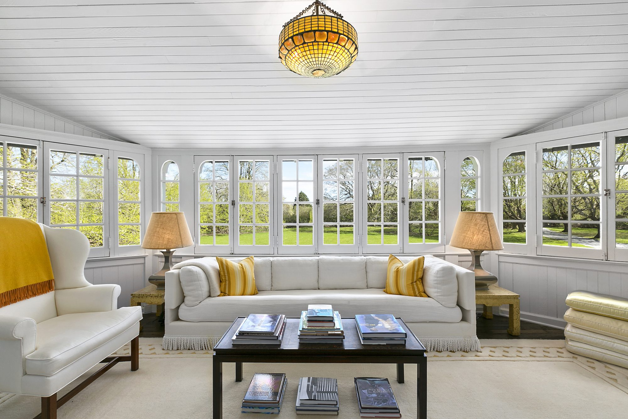 Jackie Kennedy Hamptons Home Sunroom