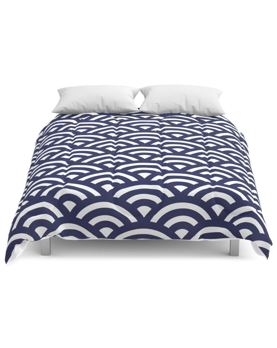 society6-japanese-waves-comforter