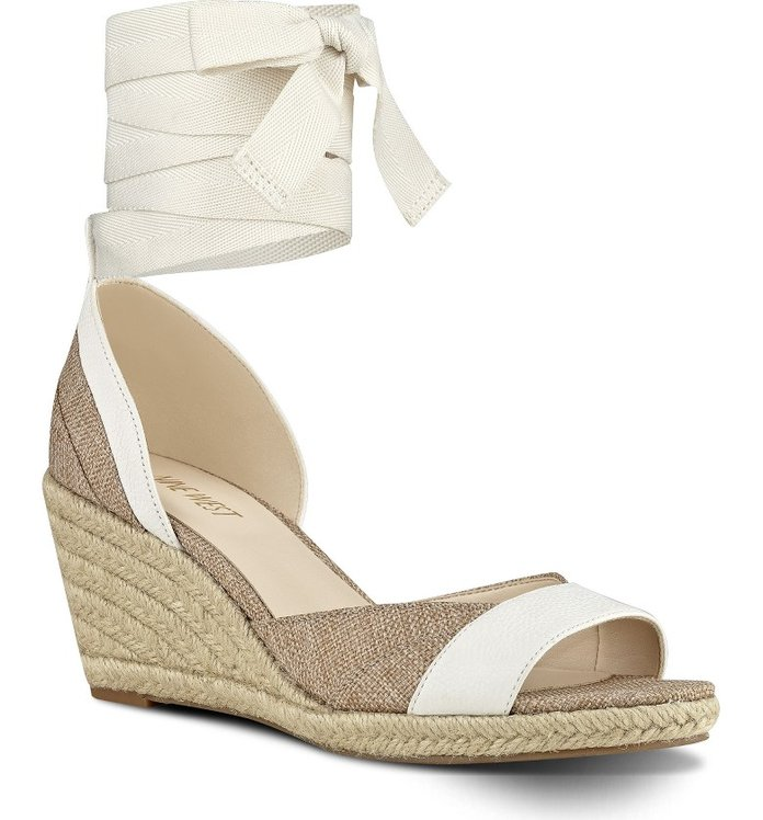 Kate Middleton Style: Jaxel Ankle Tie Wedge Sandal