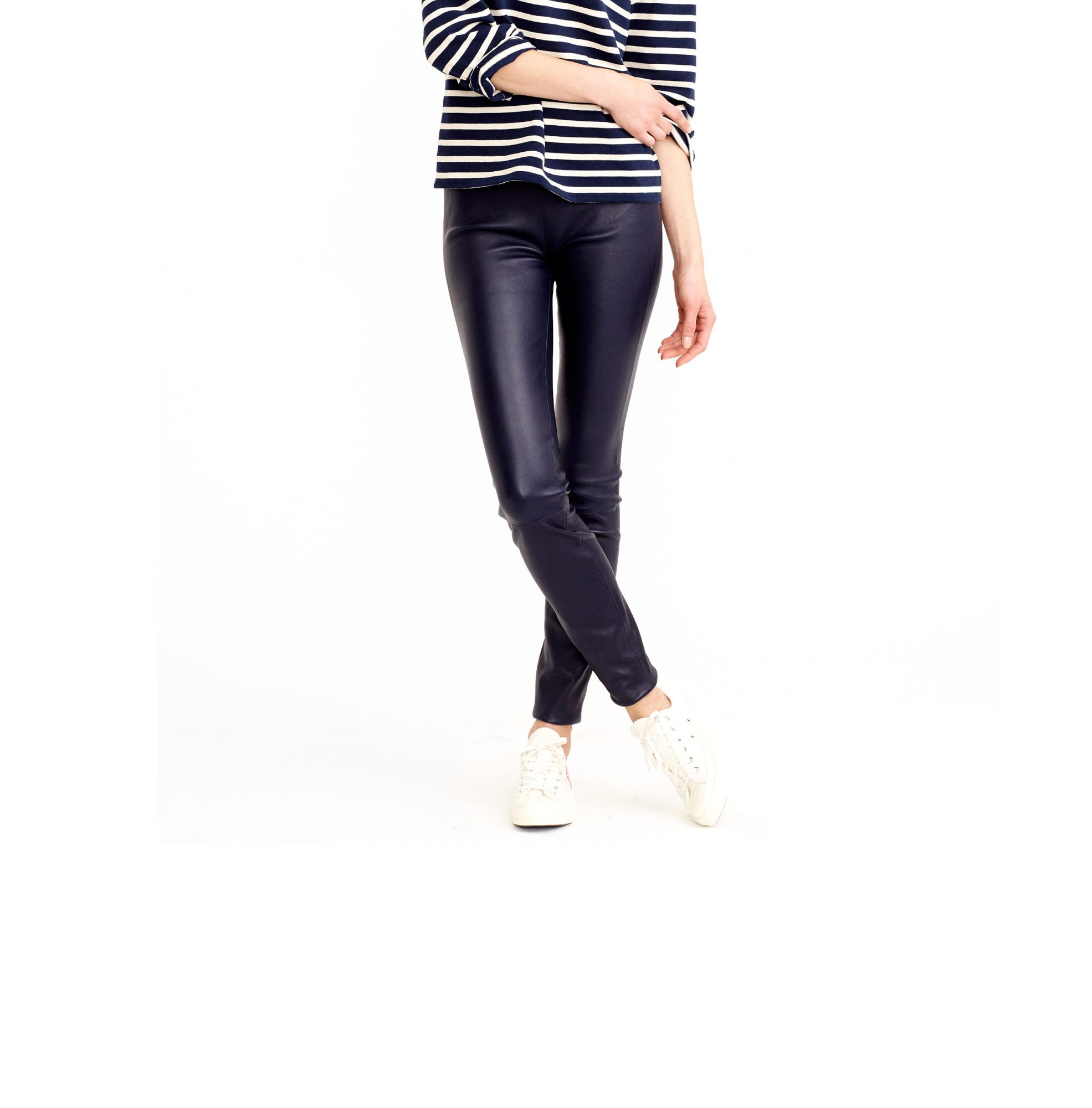 J. Crew Collection petite leather leggings