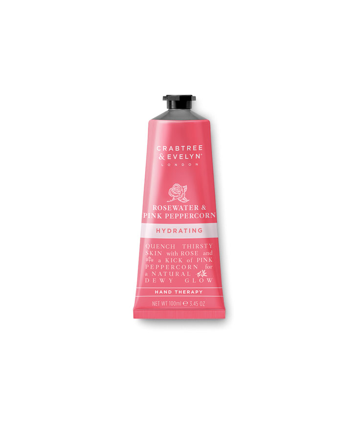 Crabtree & Evelyn rosewater pink peppercorn hydrating hand therapy