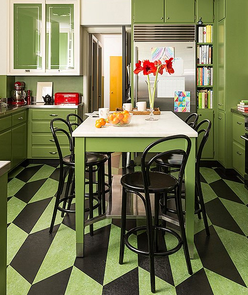 Colorful Kitchen Island
