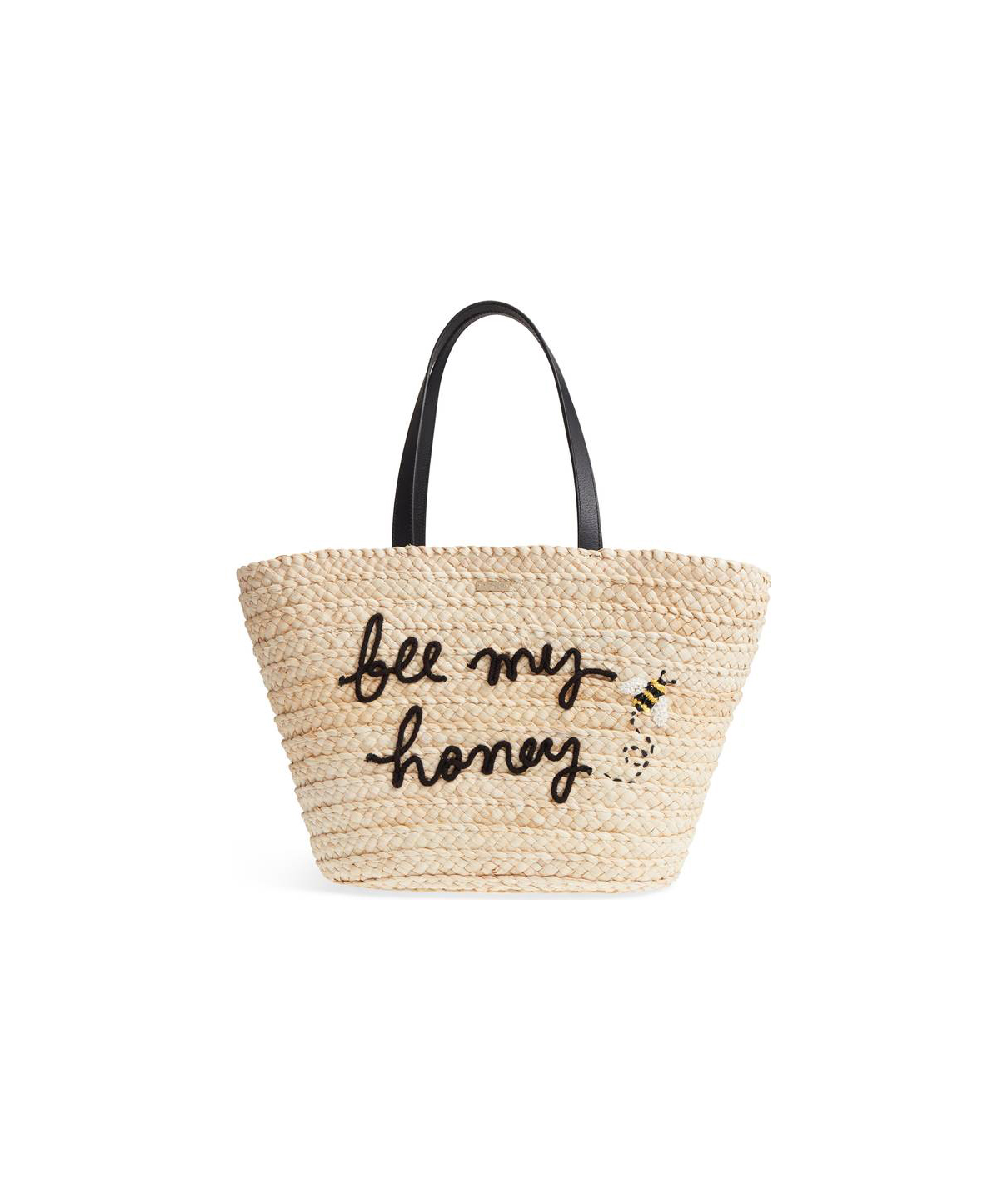 Kate Spade Picnic Perfect Bee My Honey Straw Tote