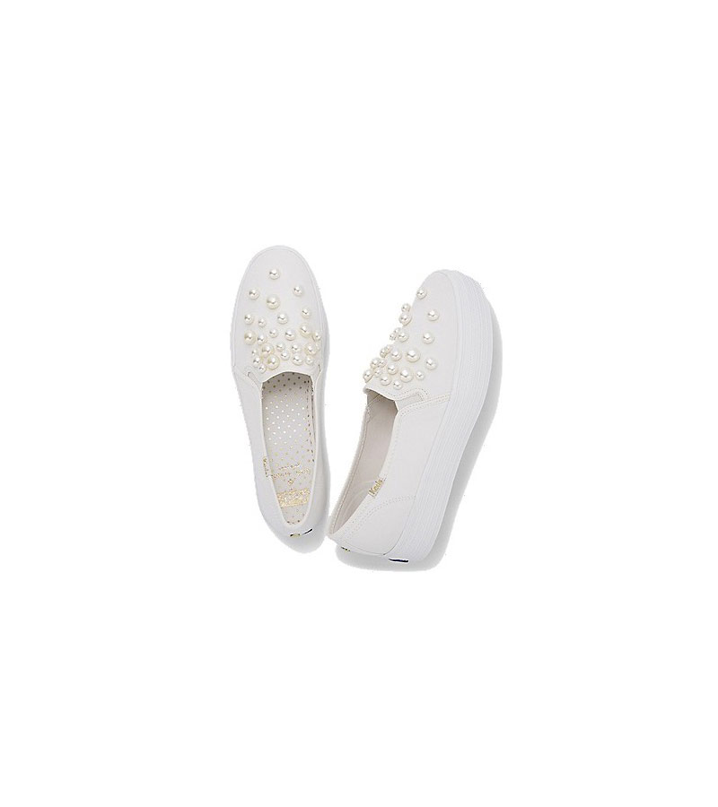 17eda7f13a38 Keds and Kate Spade Launch Dreamy Line of Wedding Sneakers | Real Simple