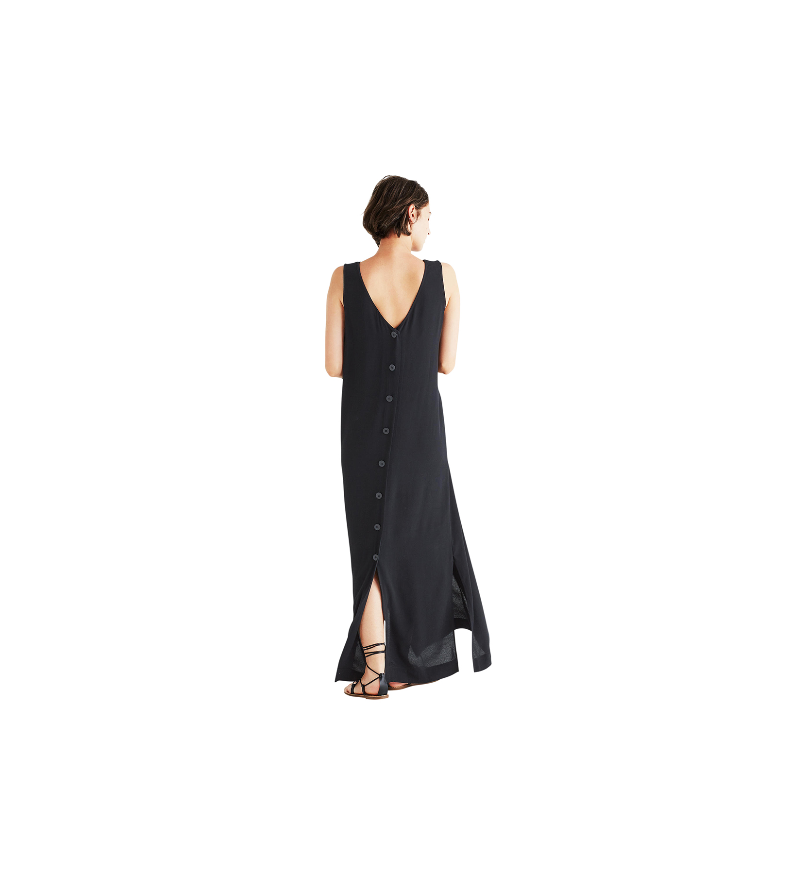 Madewell Lakeshore Button-Back Maxi Dress