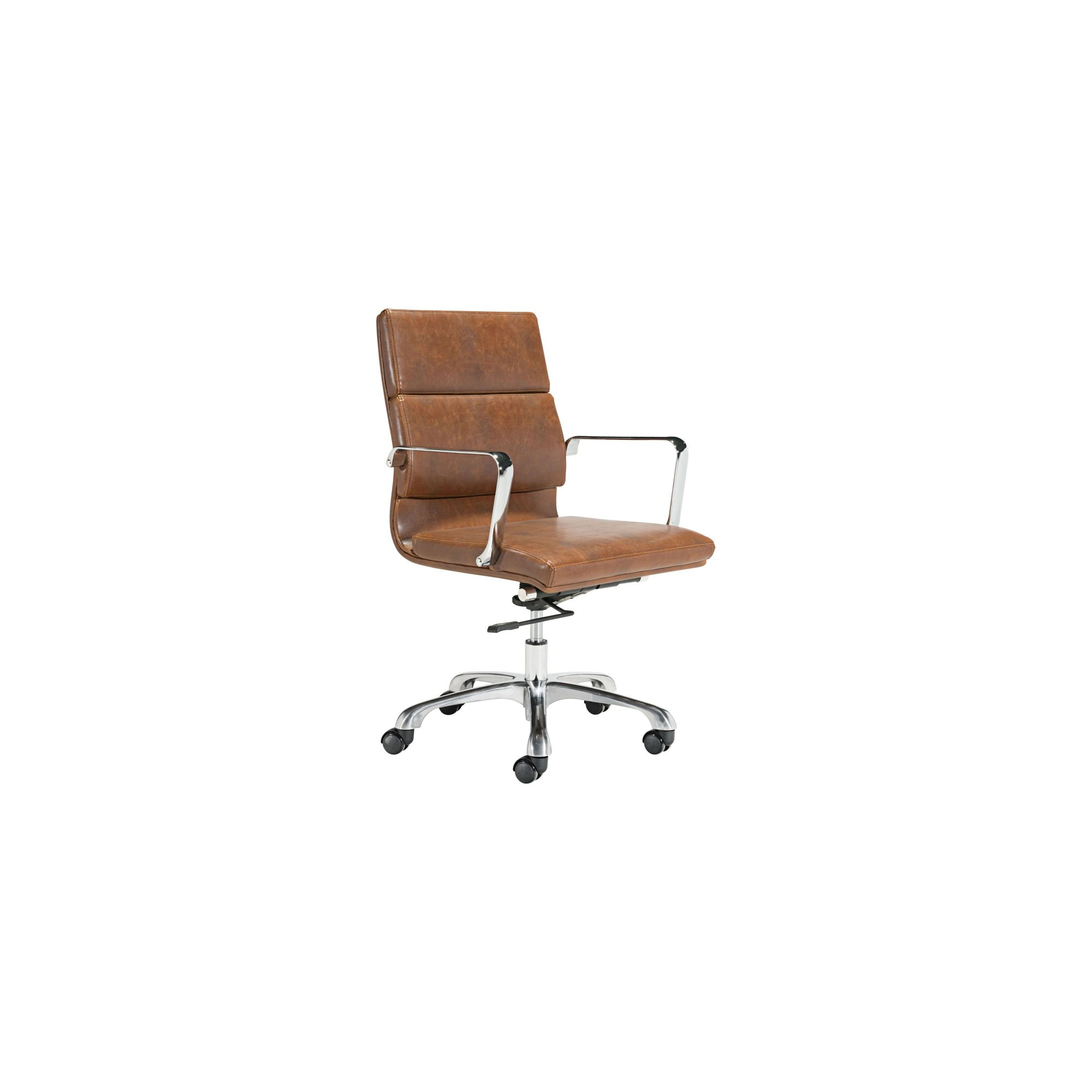 Ithaca Vintage Brown Faux Leather Adjustable Office Chair