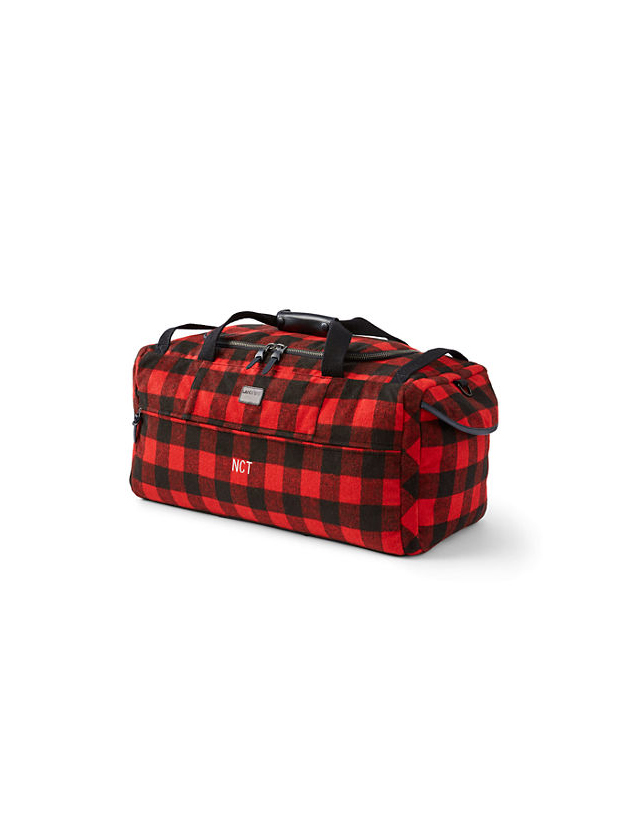 Lands End Buffalo Check Duffel