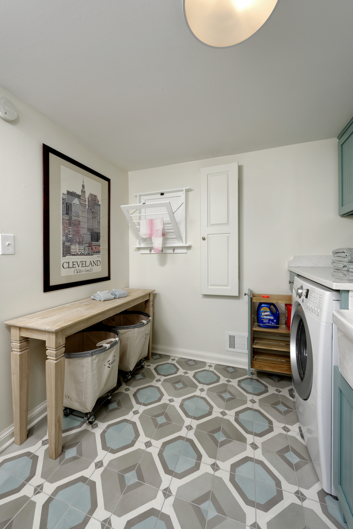 Laundry Room Rolling Bins