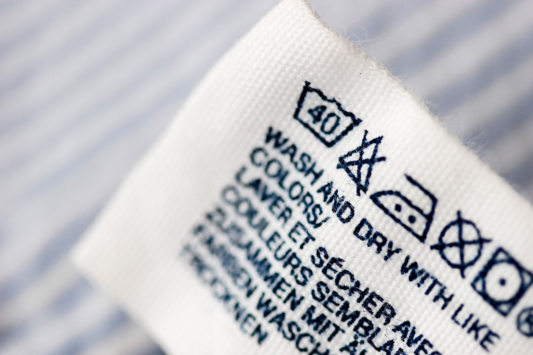 Laundry Tricks for Longer Lasting Clothes - Clothing Care Label