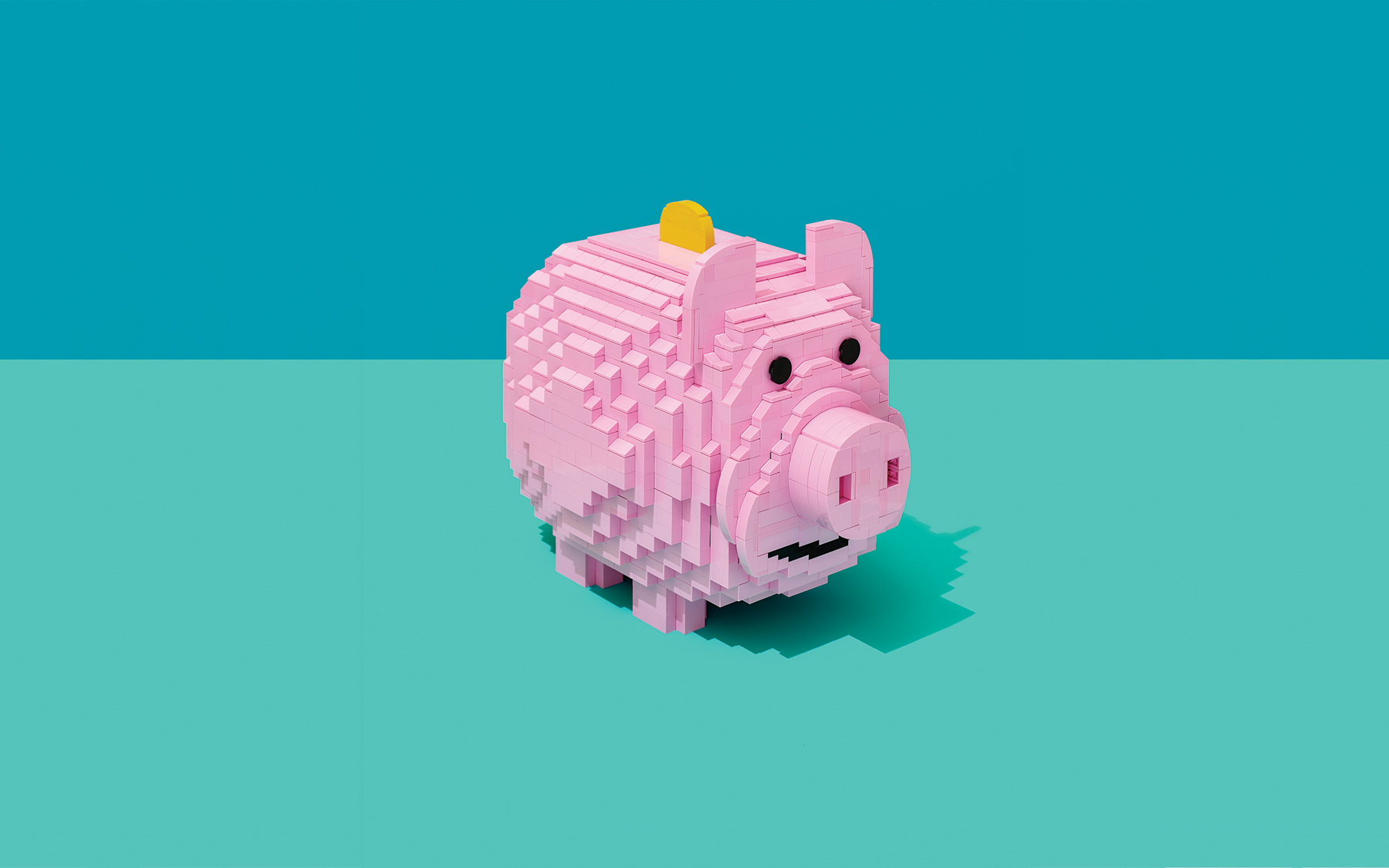 Piggy Bank LEGO Sculpture