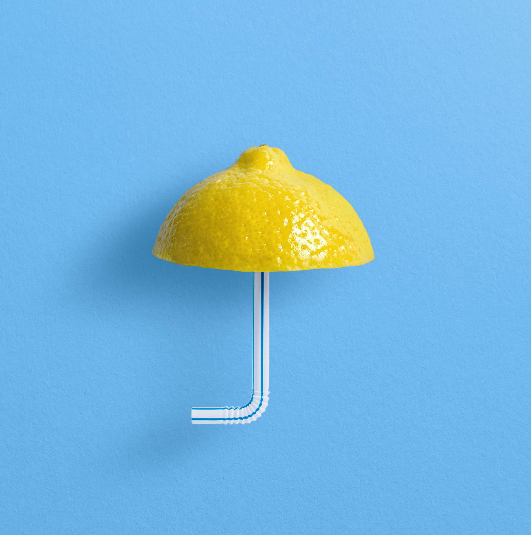 Lemon straw umbrella