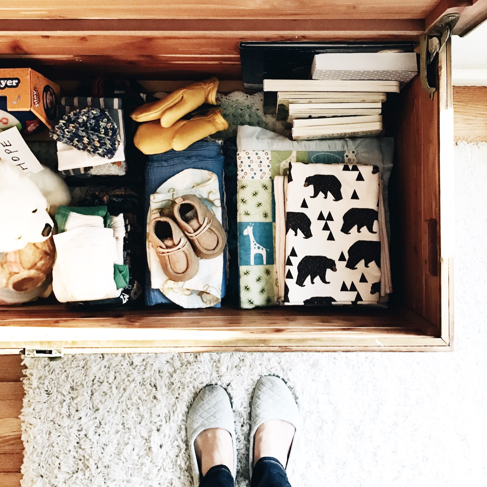 Drawer with baby things
