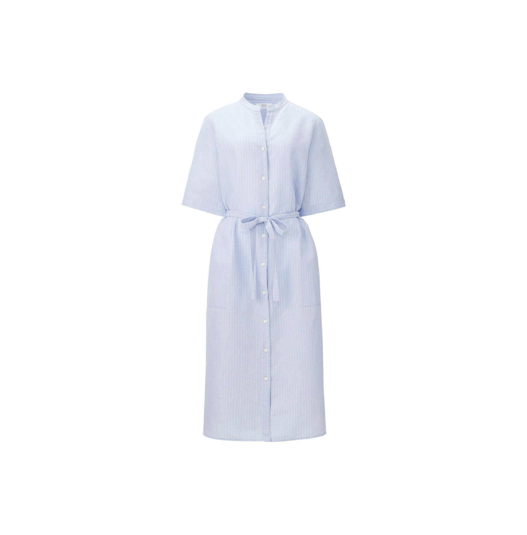 Uniqlo Linen Cotton Striped Shirt Dress