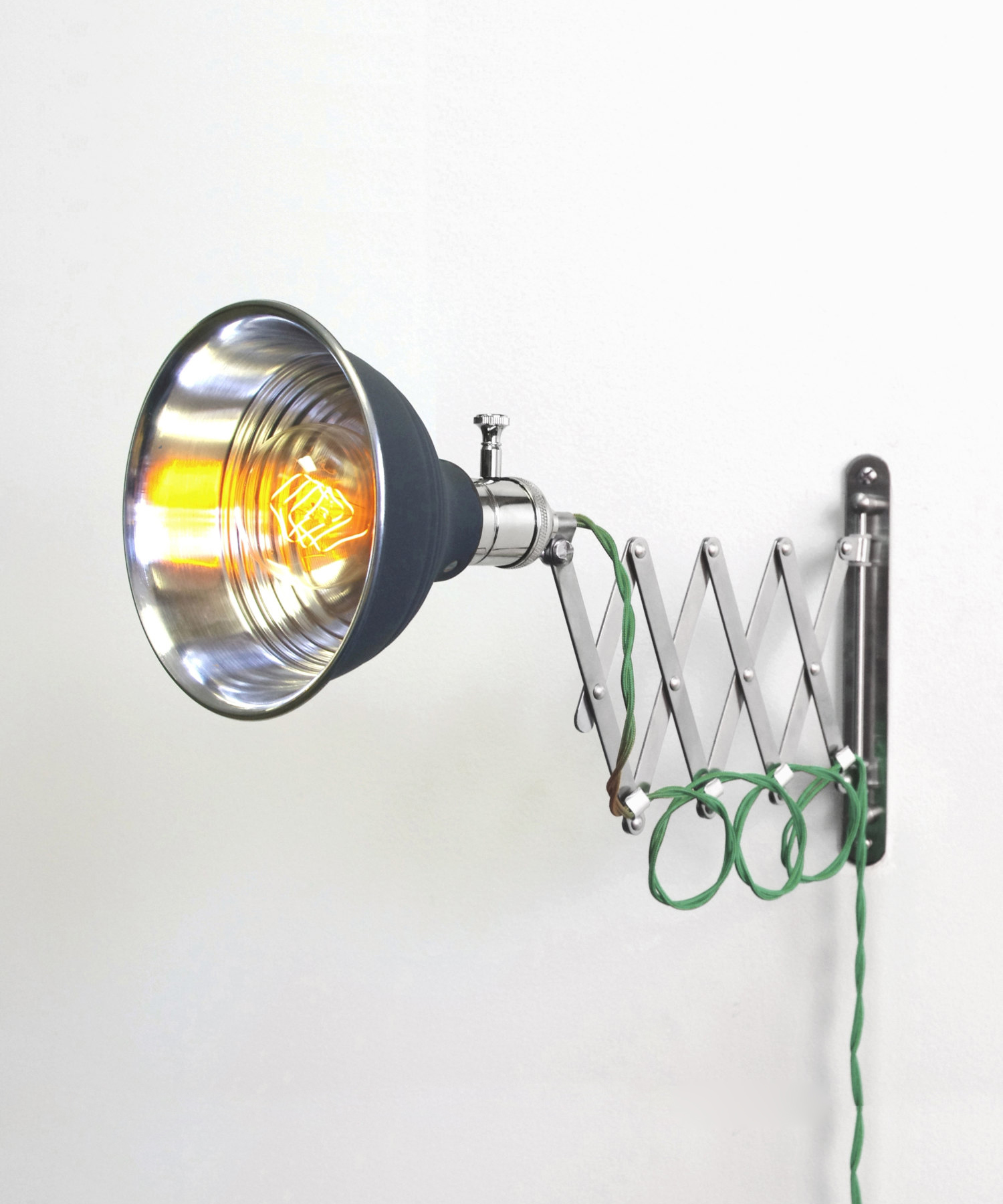 Industrial Scissor Articulating Wall Lamp