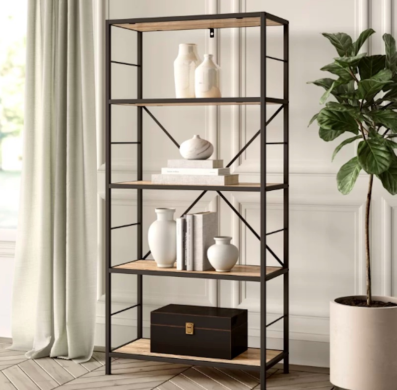 Luxe Decor for Less Bookcase