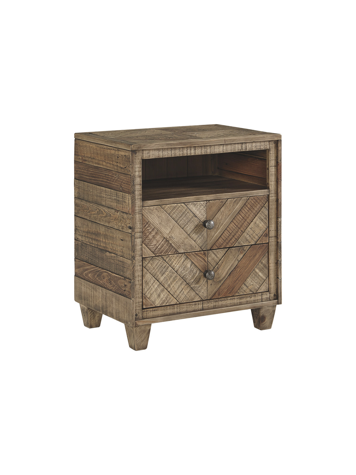 Luxe Decor for Less Reclaimed Wood Nightstand