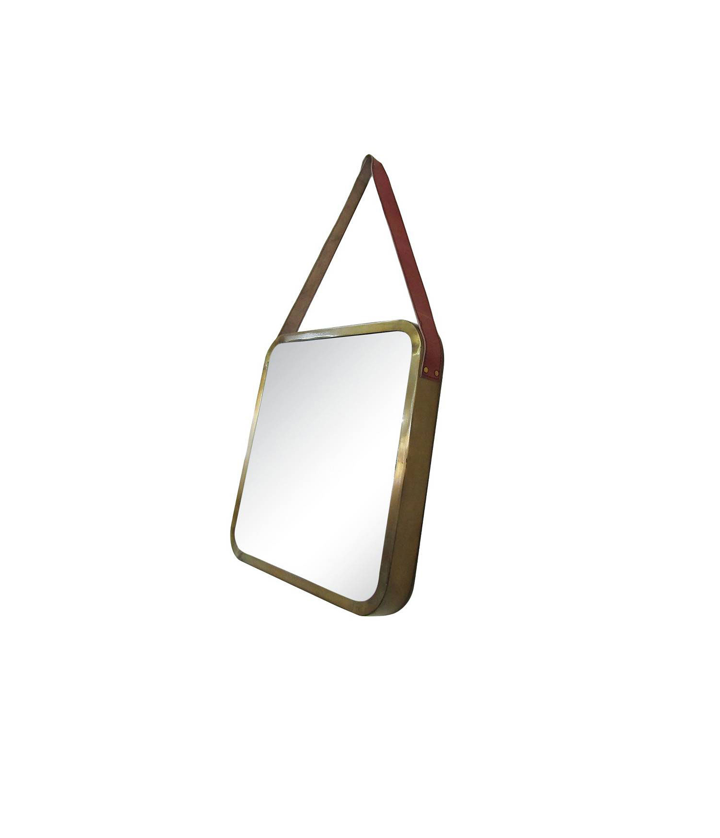 Target Metal & Leather Mirror