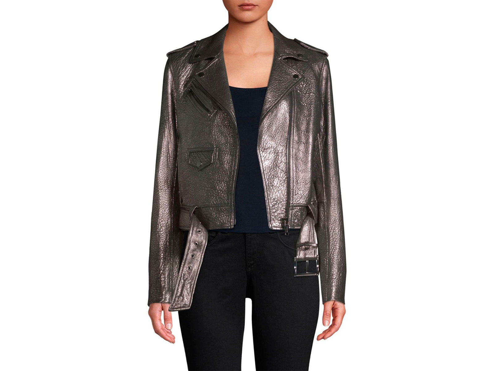 Michael Kors Metallic Moto Jacket