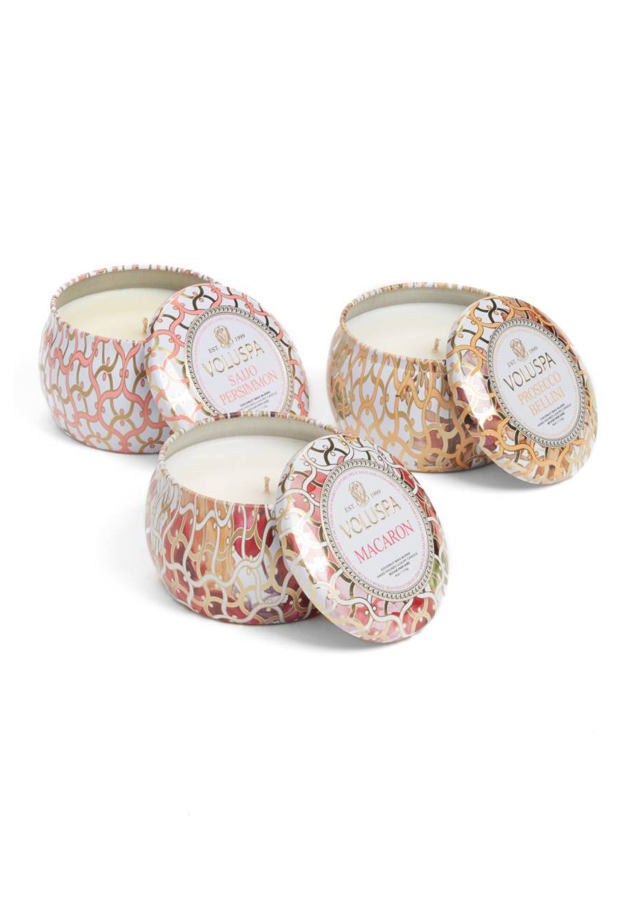 Maison Blanc Mini Tin Candle Set