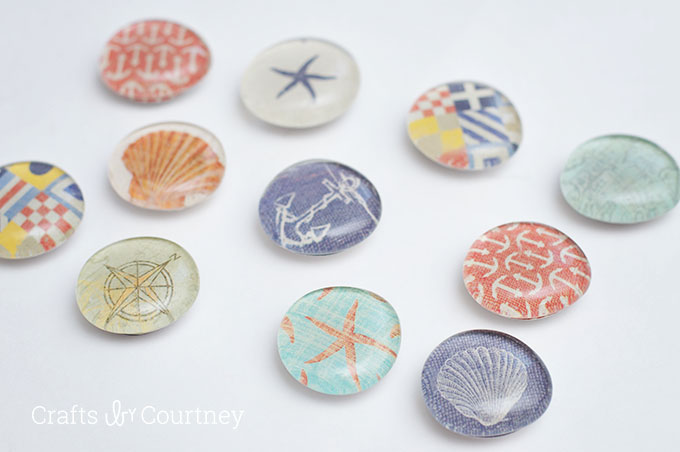 Diy locker decorations real simple nautical themed diy magnets solutioingenieria Image collections