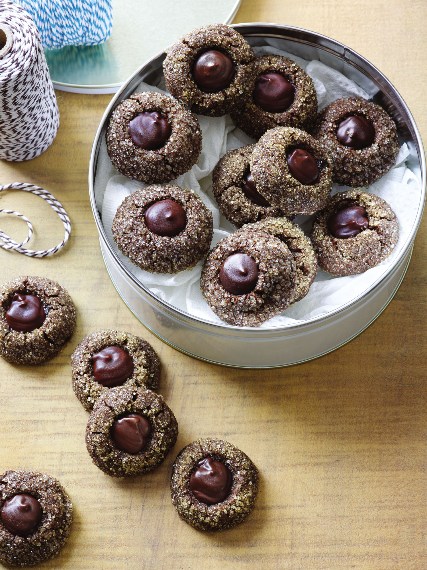 Spiced Chocolate Molasses Buttons