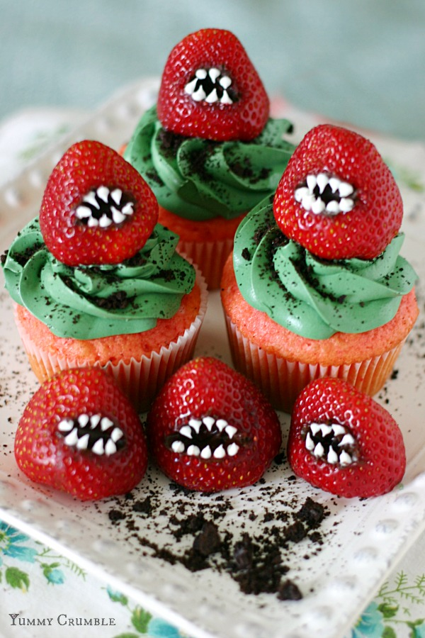 Monster Strawberry Cupcake