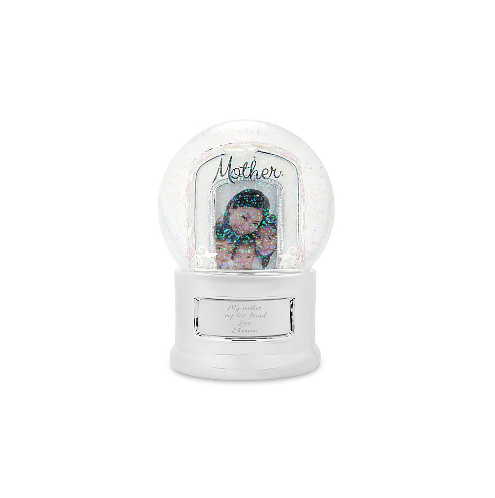 Mother Photo Snow Globe