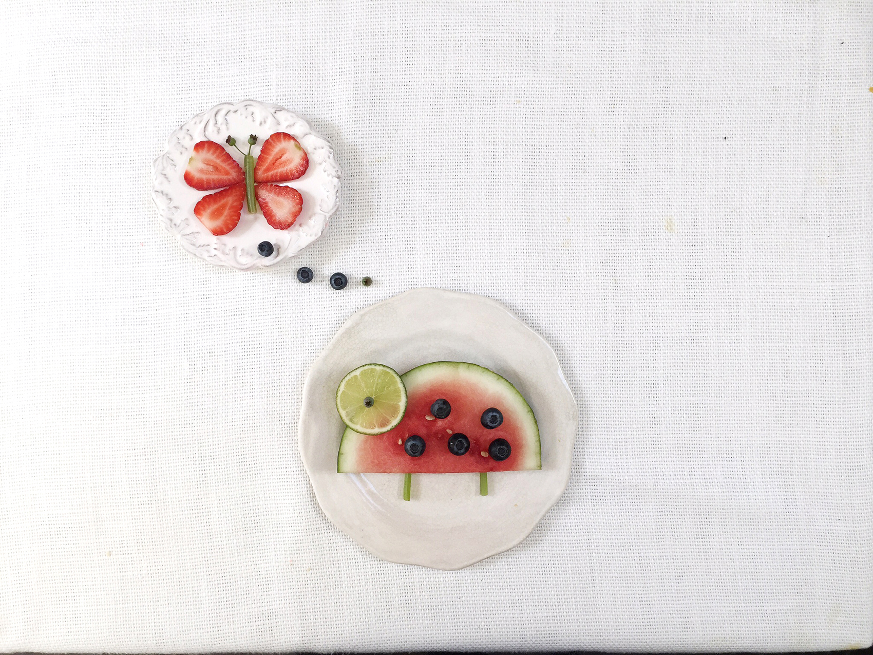 Fruit Ms. Lady Bug and Madame Butterfly