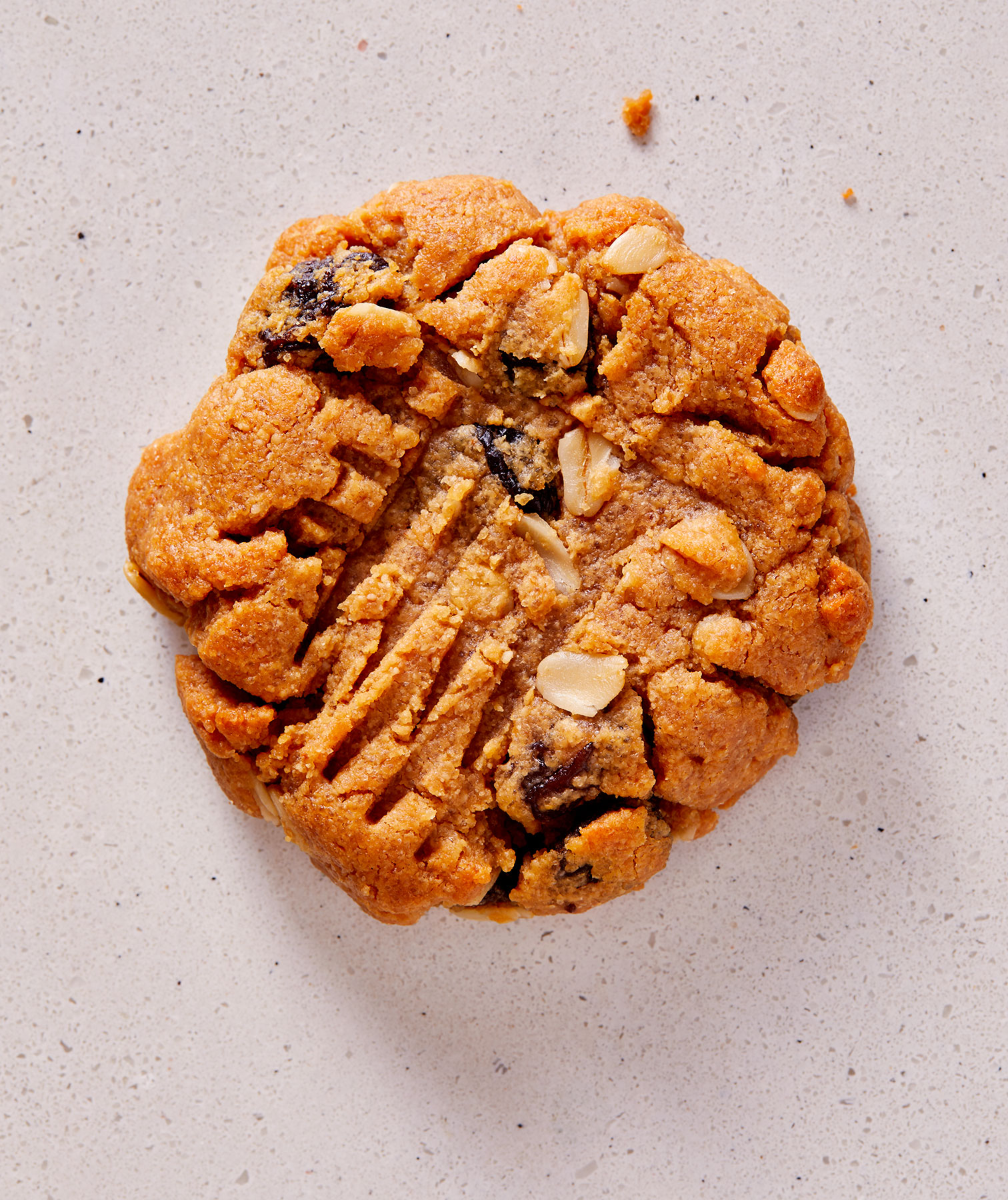 Oatmeal-Cinnamon-Raisin Swirl Peanut Butter Cookie
