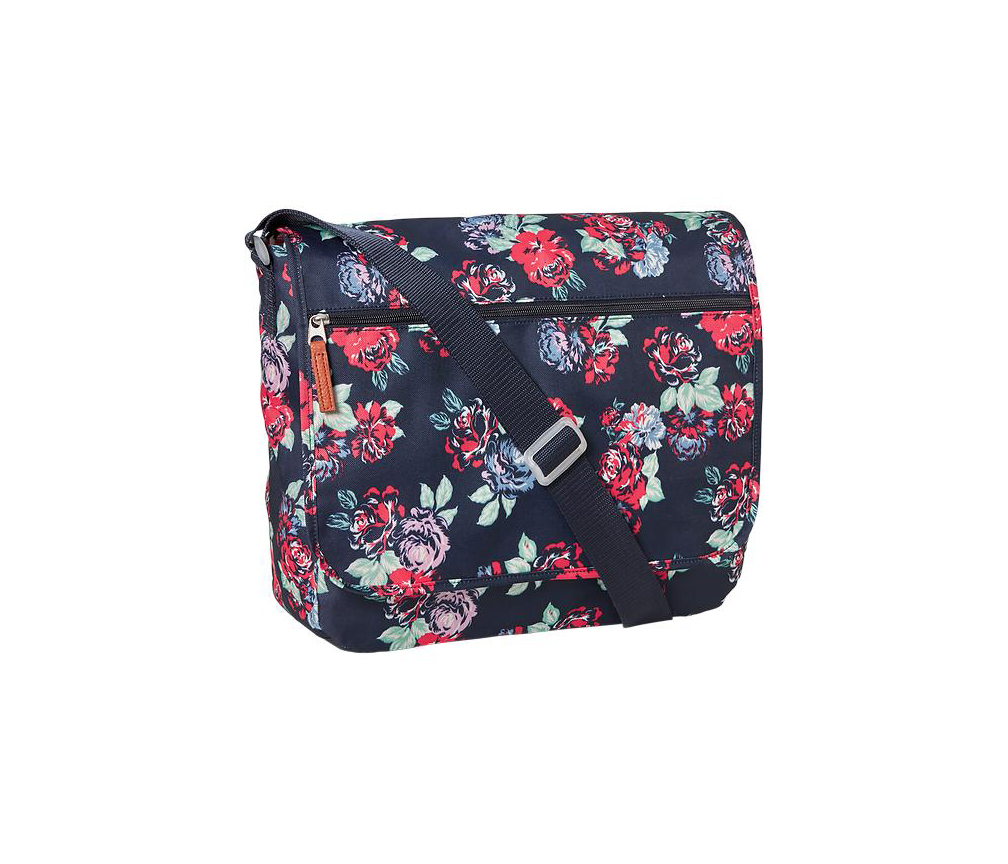 Old Navy Red Floral Messenger Bag