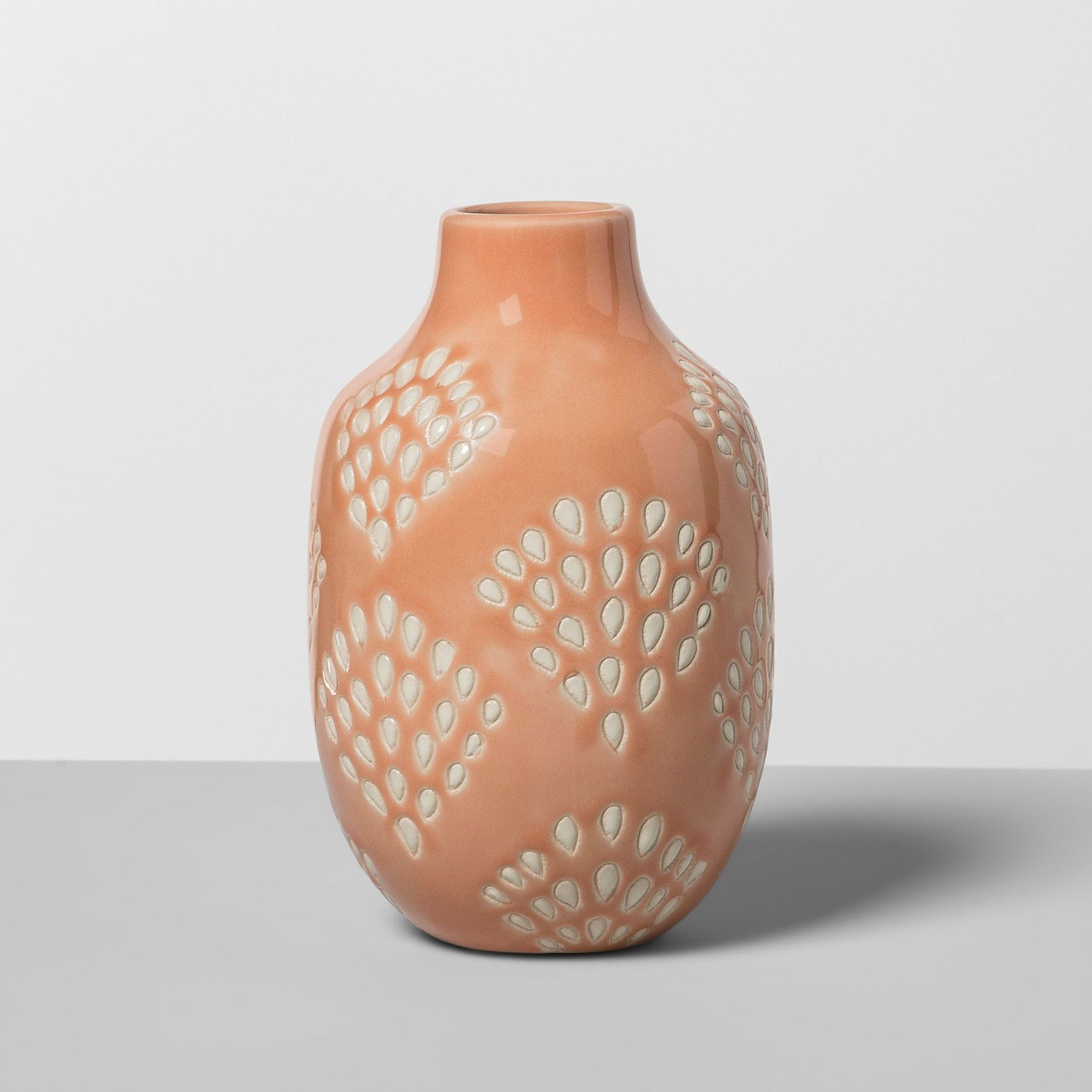 Orange patterned vase