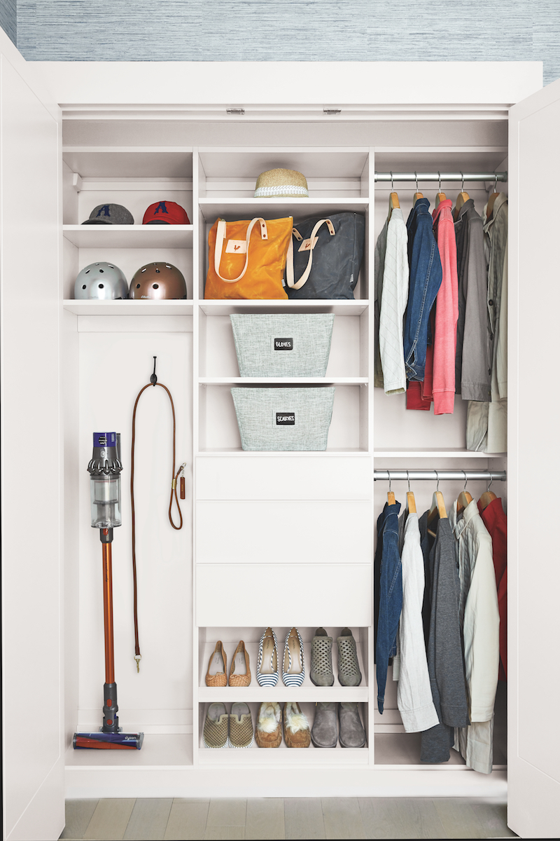 Real Simple Home Organizing ideas in utility closet