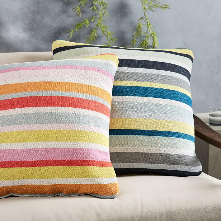 Outdoor Banded Stripes Pillow