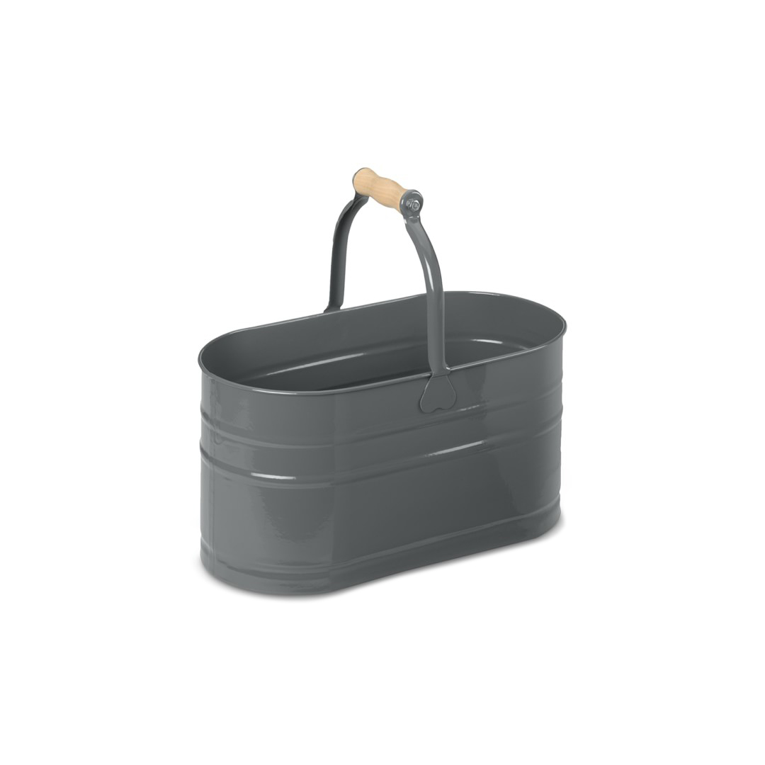 Oval Cleaning Pail with Wooden Handle